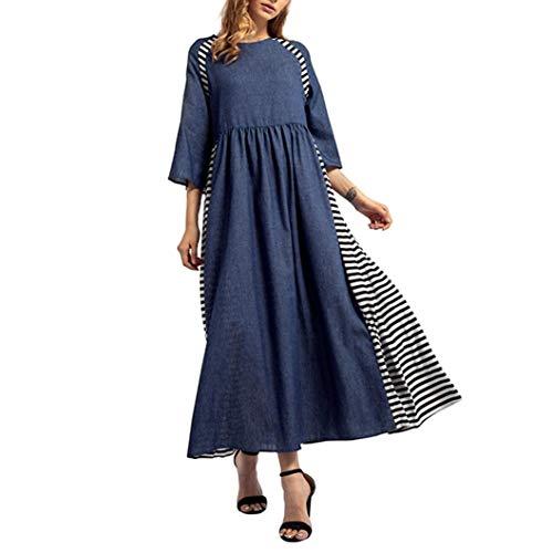 Boho Dress,Caopixx Women's Floral Printed Autumn Short Sleeve Casual Tunic Long Dress ()