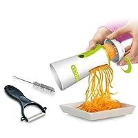 Newest & Improved 2018 Spiralizer Vegetable Slicer Complete Bundle - Best Vegetable Cutter - Zucchini Pasta Noodle Spaghetti Maker