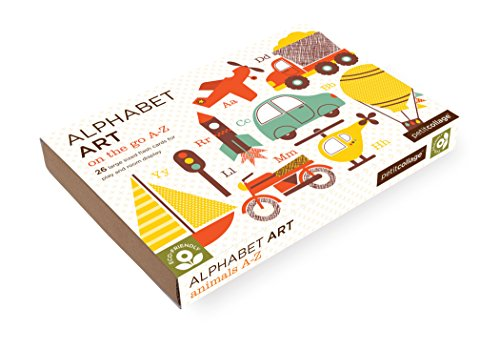 Petit Collage A-Z Alphabet Art Cards, On the Go