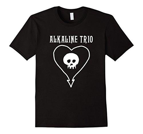 Mens Alkaline Trio Classic Heartskull T-Shirt - Official Merch Medium Black