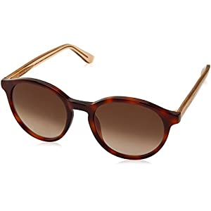 Tommy Hilfiger Th1389s Round Sunglasses, Havana Beige/Brown Gradient, 52 mm