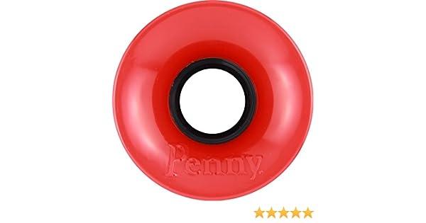 PENNY WHEELS 59mm RED GLITTER .pc Skateboard Wheels