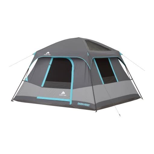 10-x-9-Ozark-Trail-Six-Person-Dark-Rest-Cabin-Family-Camping-and-Adventure-Tent-Includes-a-Gear-Loft-Hanging-Organizer-and-Electrical-Port-Access-and-Ground-Vent-for-Improved-Air-Circulation