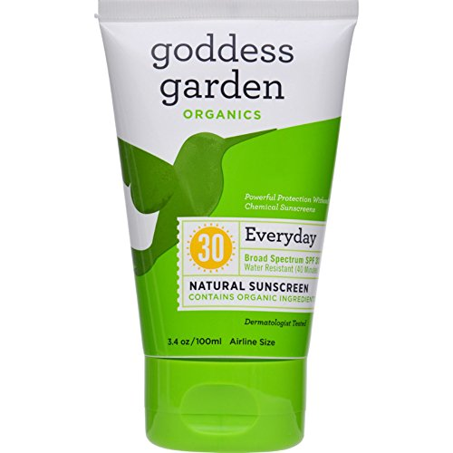 Goddess Garden Organic Sunscreen - Natural SPF 30 Lotion - 3.4 oz (Pack of 2)