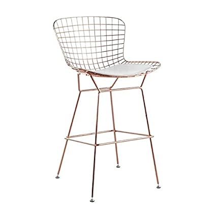buy popular 0f27a 32bf4 Amazon.com: Bertoia Style Wire Counter Stool in Rose Gold ...