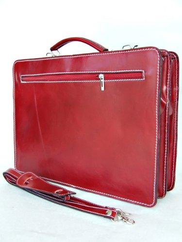 p portable sac de cuir Italie ordinateur mod avec Fichier bandoulière Red UNISEX business 2027 v6TWq