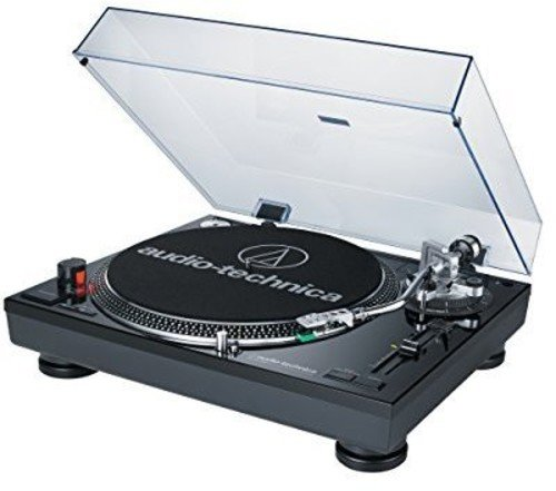 Audio-Technica AT-LP120BK-USB Direct-Drive Professional Turntable (USB & Analog), Black (Drive Portable Turntables)