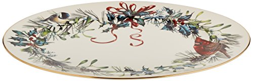 Lenox Winter Greetings 16'' Oval Platter,Ivory, Gold by Lenox (Image #2)