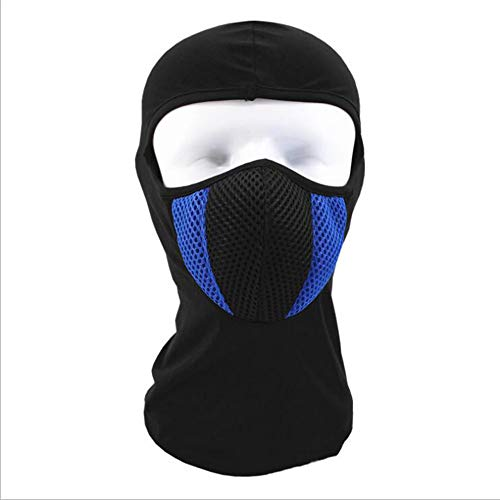 - Tckoudai Buy One Get One Free.Warm and Windproof Hood, Riding Mask Winter Outdoor Plus Velvet Bib Cold Smog Mask Warm Hat,Blue