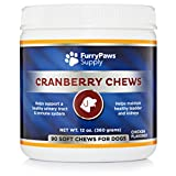 Furry Paws Cranberry Chews - Dog UTI Treatment & Bladder Support for Dogs - Relieves Incontinence, Boosts Immune System & Provides Kidney Support