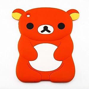 Cute Bear Silicone Soft Back Cover Case Skin for iPad Mini