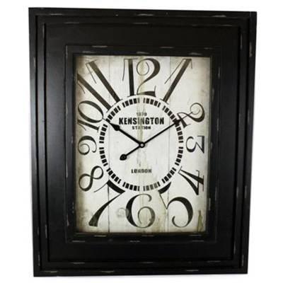 Antique Style Kensington Station Large Square Wall Clock 58Cm X 60Cm