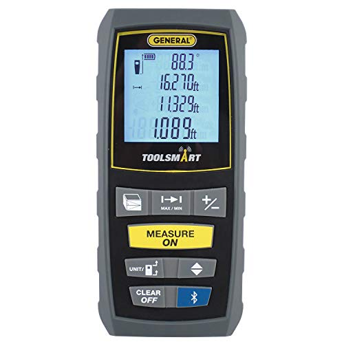 General Tools TS01 100' Laser Measure, Bluetooth Connected, Calculates Area, Distance and Volume, Real-Time Measuring (Time Laser)