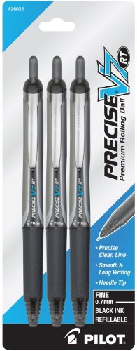 Pilot Precise V7 RT Rolling Ball Pens, Fine Point, 0.7mm,