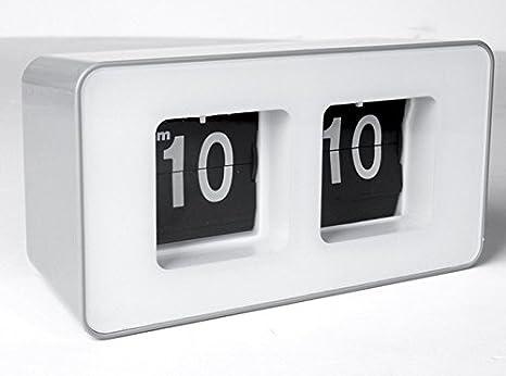 ZHUNSHI La Reloj Retro Flip Idyllique páginas automatiquement Le Flop, alors Que el Reloj, Color Blanco: Amazon.es: Hogar