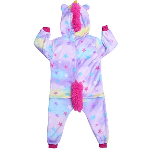 Pijama Unicornio Unisex Niños Pijamas de una pieza unicornio Mono Disfraz de Animal Ropa dormir para Niños 2-12 Años Violeta 5-6 años: Amazon.es: Ropa y ...