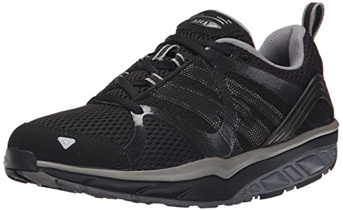 MBT Leasha Trail Lace Up, Zapatillas de Deporte Exterior para Mujer Negro (Black/steel/silver)