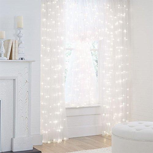 Brylanehome Pre-Lit Curtain Panel (White,0) (Prelit)
