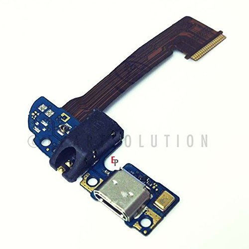 ePartSolution_Micro USB Charger Charging Port Flex Cable Dock Connector With Headphone Audio Jack USB Port for HTC One M8 831C Replacement Part USA Seller