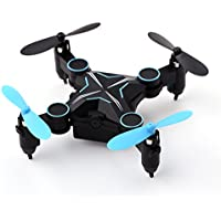 HELIWAY Pocket Mini Remote Control Quadcopter,Folding Portable Helicopter with HD Camera,360-degree Aerocraft,3D Rolling Mode RC Drone,6 Axis Gyroscope 2.4GHz 4CH,Blades Propellers Included 901HS