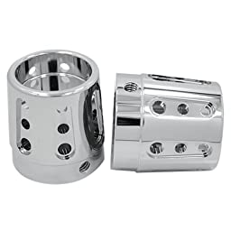 Hill Country Customs Chrome Gatlin Front Axle Nut Covers for 2000-2007 Harley-Davidson Touring Models - HC-14-0856