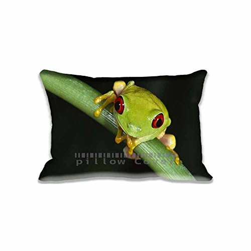 Custom Design Colorful Tree Frog Pillow Cases Zippered , Standard Size Animals Pillowcase - 16X24inch Reptiles & Frogs Cushion Covers Two Size Print (Car Seat Cover Frogs With Leaves compare prices)