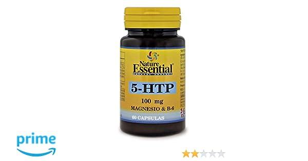 Nature Essential Triptofano 5-Htp 100mg, Magnesio y Vitamina B6-60 ...