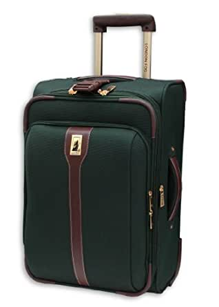 London Fog Luggage Oxford II 21 Inch Upright Suiter, Green, One Size