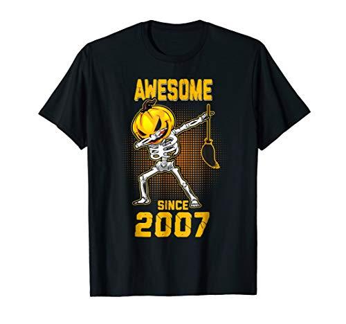 Skeleton Pumpkin Dabbing Awesome Since Halloween 2007 Shirt -