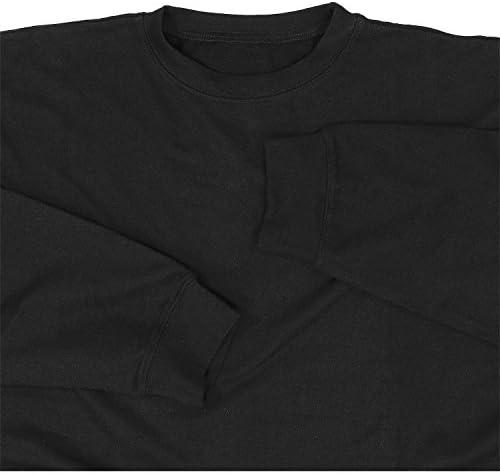 ADAMO Sweat-Shirt Noir 'Athen' by en Grandes Tailles Jusqu'au 14XL