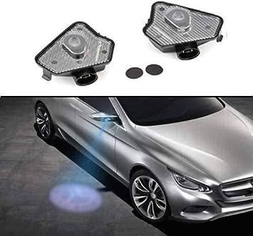 Sunshine Fly 2 luci LED laterali sotto specchio Ghost proiettore luce logo luce di benvenuto auto di ricambio accessorio lente in vetro bianco
