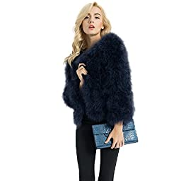 Jancoco Max New Real feather coat ostrich fur jacket women