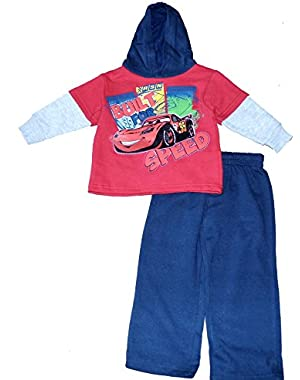 Baby Boys' Cars Infant 2 Piece Fleece Hoodie Set