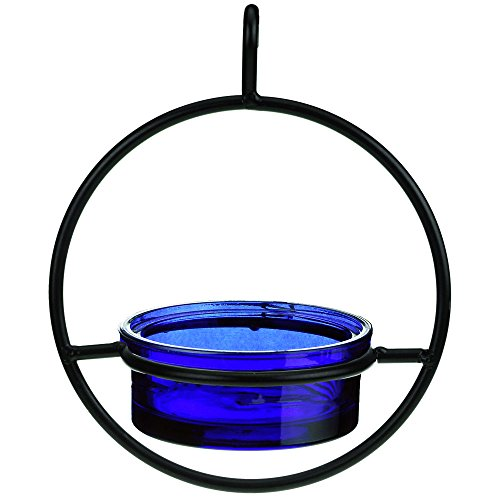 Couronne-Company-M045-200-34-oz-Recycled-Glass-and-Metal-Hanging-Sphere-Bird-Feeder