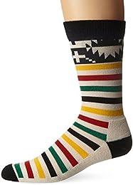 Men's Merino Jacquard Park Crew Socks