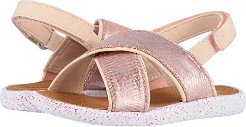 TOMS Kids Baby Girl's Viv (Toddler/Little Kid) Persimmon Metallic Shantung 6 M US Toddler -