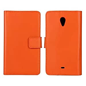 Fadlike Cowskin Flip Leather Wallet Card Pouch Stand Back Case Cover For Sony Xperia T LT30p Orange