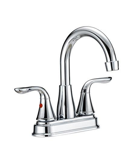 Lavatory Ldr Faucet (LDR 015 44054CP Lavatory Faucet Dual Lever Handles Hi Arc Spout Chrome Finish)