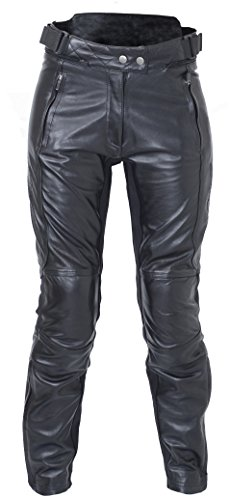 RST 1946 Kate Ladies Classic Leather Retro Motorcycle Jeans Trousers - Black - Denim 1946