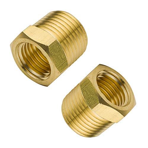 - Legines Brass Pipe Fitting, Hex Bushing, 3/8