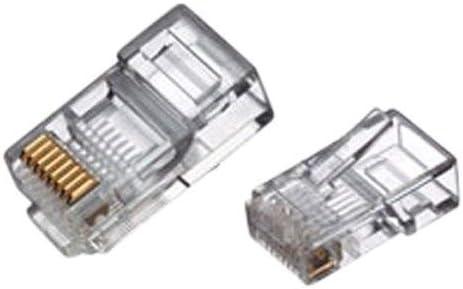 YOC-RJ45 Connector Network Cable CAT5 Crimp Ends Plug x 100 Fasmodel