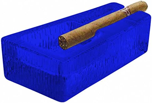 Amazon Com Libbey Glass Cigar Ashtray Durable Design Full Color Cobalt Blue Additional Vibrant Colors Available By Tabletop King Kitchen Dining