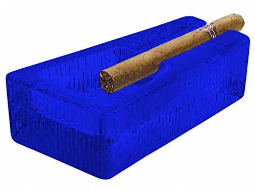 Libbey Glass Cigar Ashtray Durable Design - Full Color Cobalt Blue - Additional Vibrant Colors Available by TableTop King