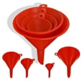ProTool 4pc Size Plastic Funnel Set for Liquids Dry Goods