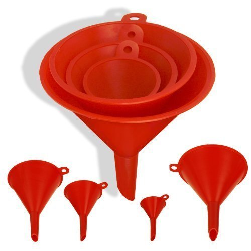 ProTool 4pc Size Plastic Funnel Set