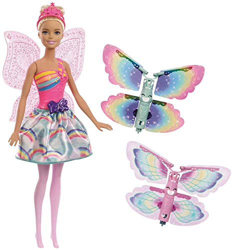 - Barbie Dreamtopia Rainbow Cove Flying Wings Fairy Doll