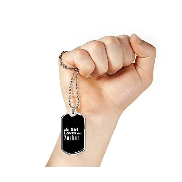 Zuchon v2 - Luxury Dog Tag Necklace Lover Owner Mom Birthday Gifts Jewelry 4