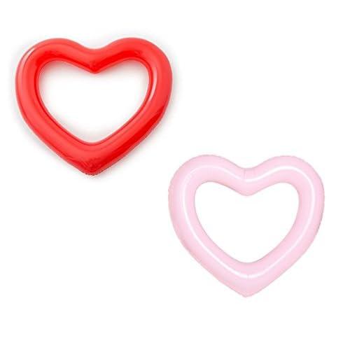 GSH-Bouée Gonflable pour Fête de Piscine Sans Pompe Gonflage (2 Love)