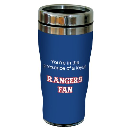 Tree-Free Greetings sg24104 Rangers Baseball Fan Sip 'N Go Stainless Steel Lined Travel Tumbler, 16-Ounce