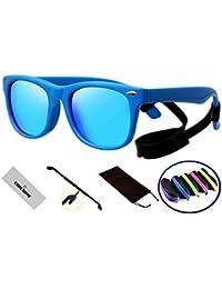 Rubber Flexible Kids Polarized Sunglasses For Boys Girls...